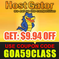 Host Gator Coupan Code : $9.94 OFF
